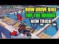 PUBG MOBILE HIDDEN SECRET HOW DRIVE BIKE TOP OF THE BRIDGE ? HIDE AND KILL ENEMYS NEW TRICK !