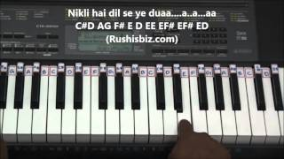 Gerua Song Piano Tutorials - Dilwale - Full Notes