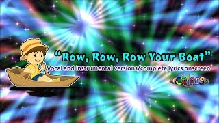 Kids Learning🎼Sing-along🎤ROW, ROW, ROW YOUR BOAT🎵no copyright music vocal & instrumental