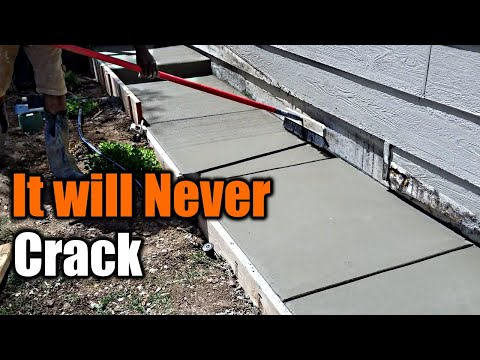 How To Pour Concrete That Will NEVER Crack | THE HANDYMAN |