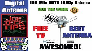 150 Mile HDTV 1080p OutDoor OTA 360 degree Antenna - Review | JoeteckTips