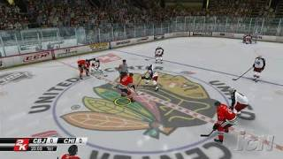 NHL 2K8 Xbox 360 Gameplay - Blackhawks vs. Blue Jackets