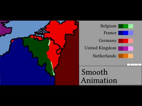 Smooth Animation of Liberation of Belgium in World War II