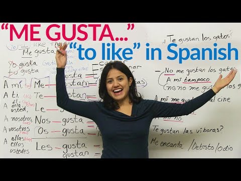 "Me gusta - ""to like"" in Spanish"