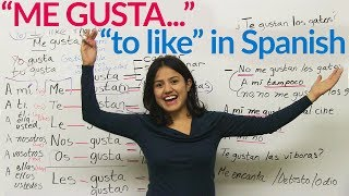 Me gusta - &quotto like&quot in Spanish