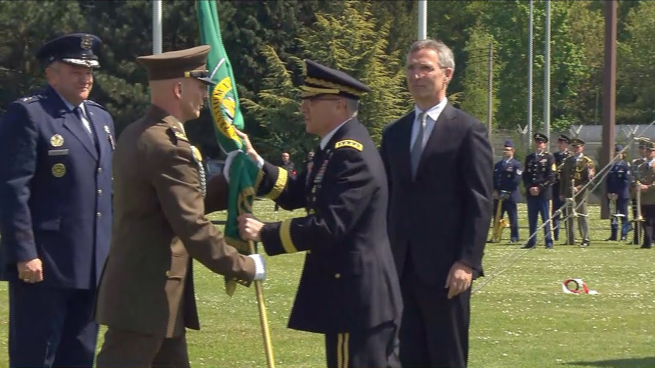General Scaparrotti at SACEUR change of command ceremony