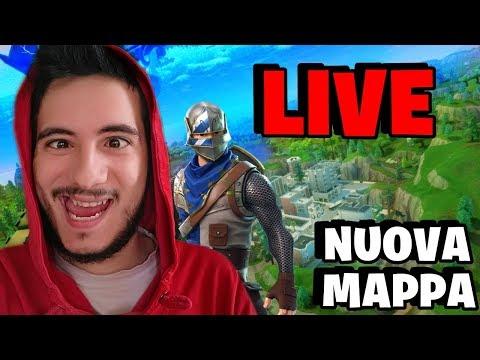 NUOVA MAPPA! Fortnite Battle Royale   LIVE CON TEAM   PROVIAMOLA