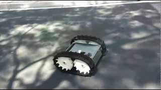 Tracked Robotic Vehicle using Wii Nunchuck Controller.wmv