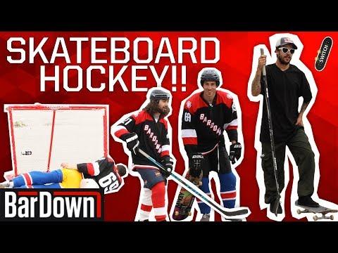 SKATEBOARD HOCKEY SHOOTOUT WITH A PRO SKATER