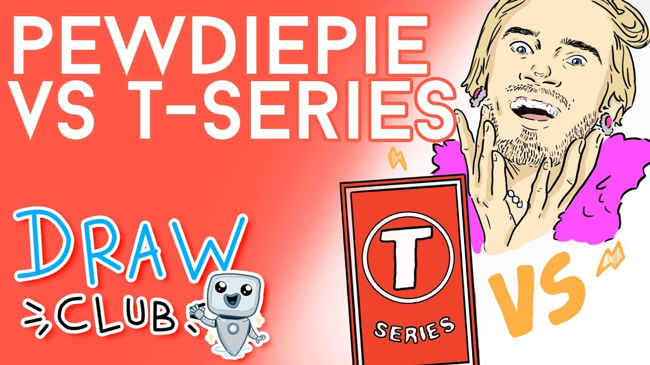 PEW DIE PIE vs T-SERIES - Draw My Life
