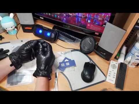 Перчатки Xiaomi сенсорные кожаные