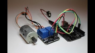 DIY: 5V Relay switch motor controller - Arduino