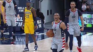 Russell Westbrook oyunu kazanan bloğu alır ve bu oyun topu muhtemelen onun   Pacers ve Sihirbazlar