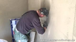 видео Штукатурка стен под покраску