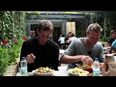 Pospisil And Sock Dine At Chipotle - Wimbledon 2015