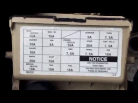 [XOTG_4463]  2000 Toyota Solaria Fuse Box Location - YouTube | 2000 Camry Le Fuse Box Location |  | YouTube