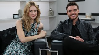 Cinderella's Lily James and Richard Madden on Their Awkward First Meeting