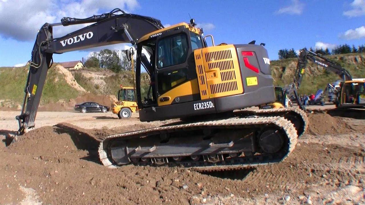 Volvo Erc235d Zero Tail Excavator Youtube