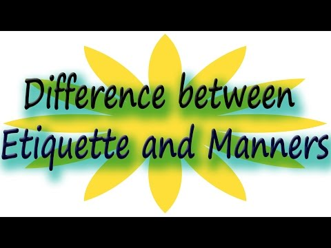 Difference Between Etiquette And Manners | Self-help Video In Hindi | #LifeSkills