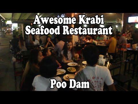 Poo Dam Seafood Restaurant, Krabi Town, Krabi, Thailand.