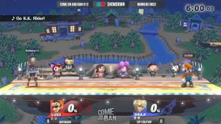 Come on and Ban #12 - Winners Ro32: 1UP|Solitary (Shulk) vs SuperOven (Luigi)