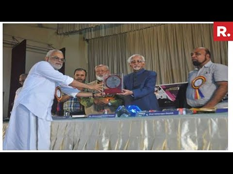 Former VP Hamid Ansari In Controversy After Attending PFI Event In Kerala