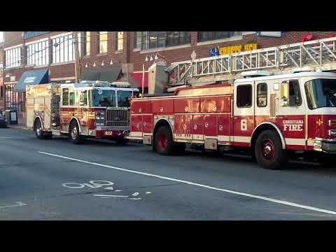 Ladder 6 And Rescue 12 On Main Street In Newark Delaware