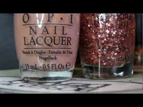 Quick Dry Nail Review - 5 - OPI Barefoot in Barcelona + Sephora by OPI Traffic Stopper Copper