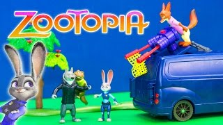 Unboxing Zootopia Mr  Otterton's Capture Van Officer with Judy Hopps Toy