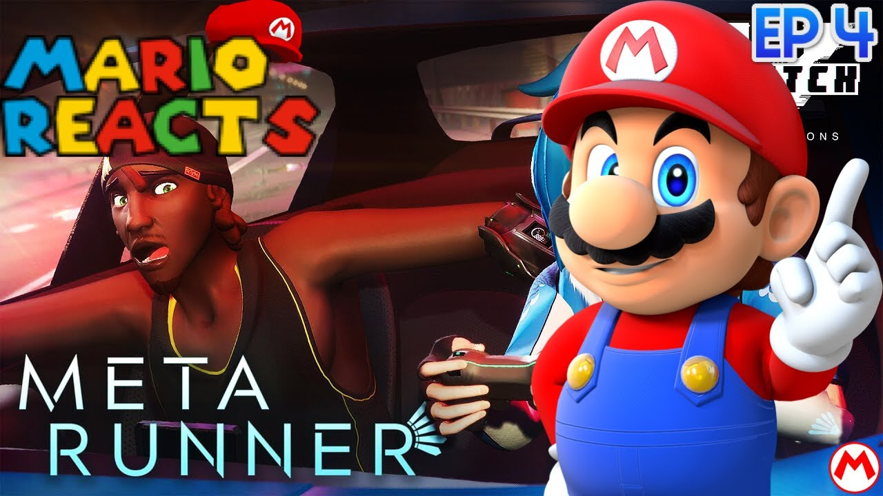 The Chase Is On | Mario Reacts To META RUNNER - Season 1 Episode 4: Sequence Break