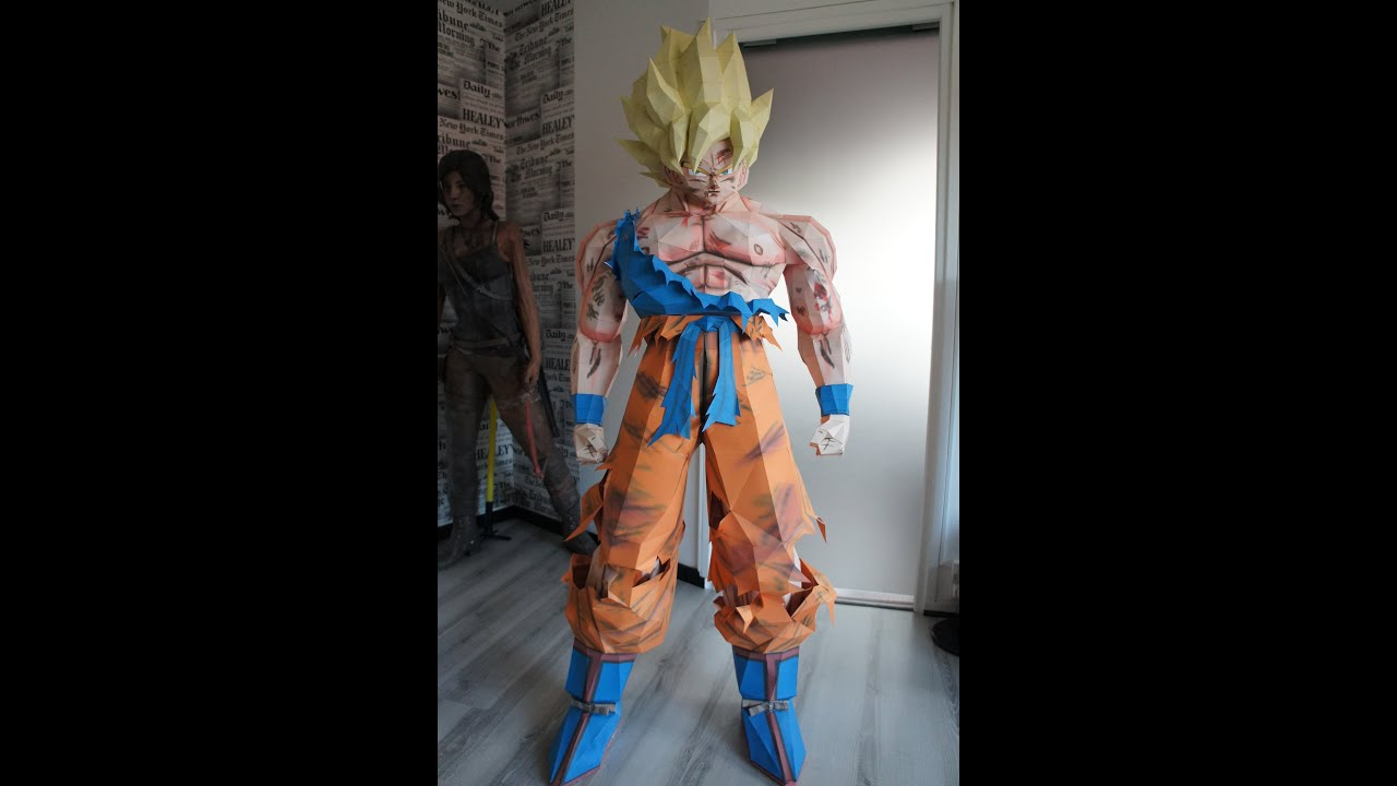 Papercraft Sangoku Super Saiyan (Dragon Ball) Papercraft Stop Motion