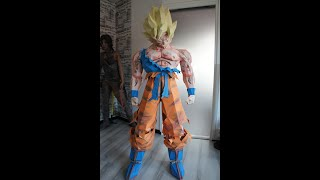 Sangoku Super Saiyan (Dragon Ball) Papercraft Stop Motion