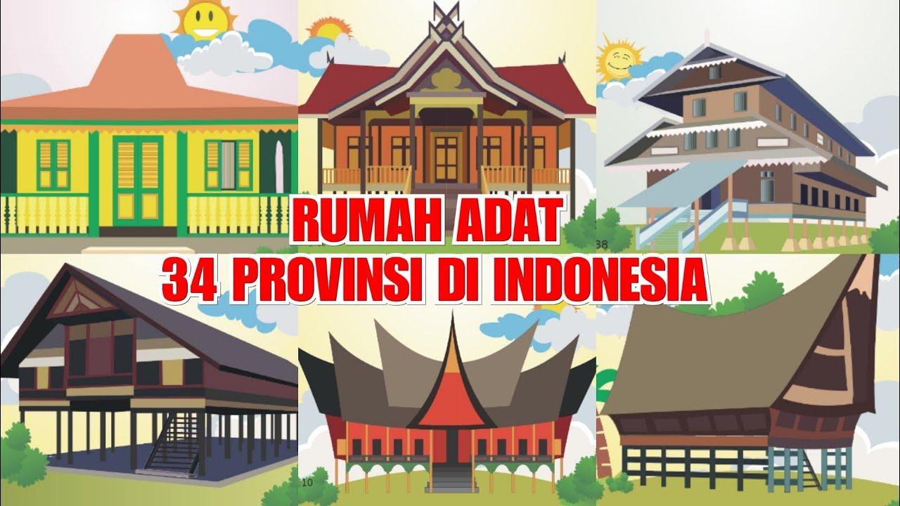 Video Pembelajaran Kelas 4 Tema 1 Subtema 3 Materi Rumah Adat Dari 34 Provinsi Di Indonesia Youtube