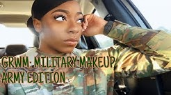 GRWM: MILITARY MAKEUP | ARMY EDITION | AR 670-1 APPROVED | JUDY'S JOINT