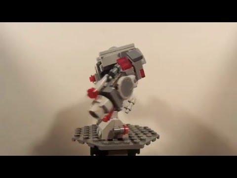 Lego dc comics cyborg big mech moc