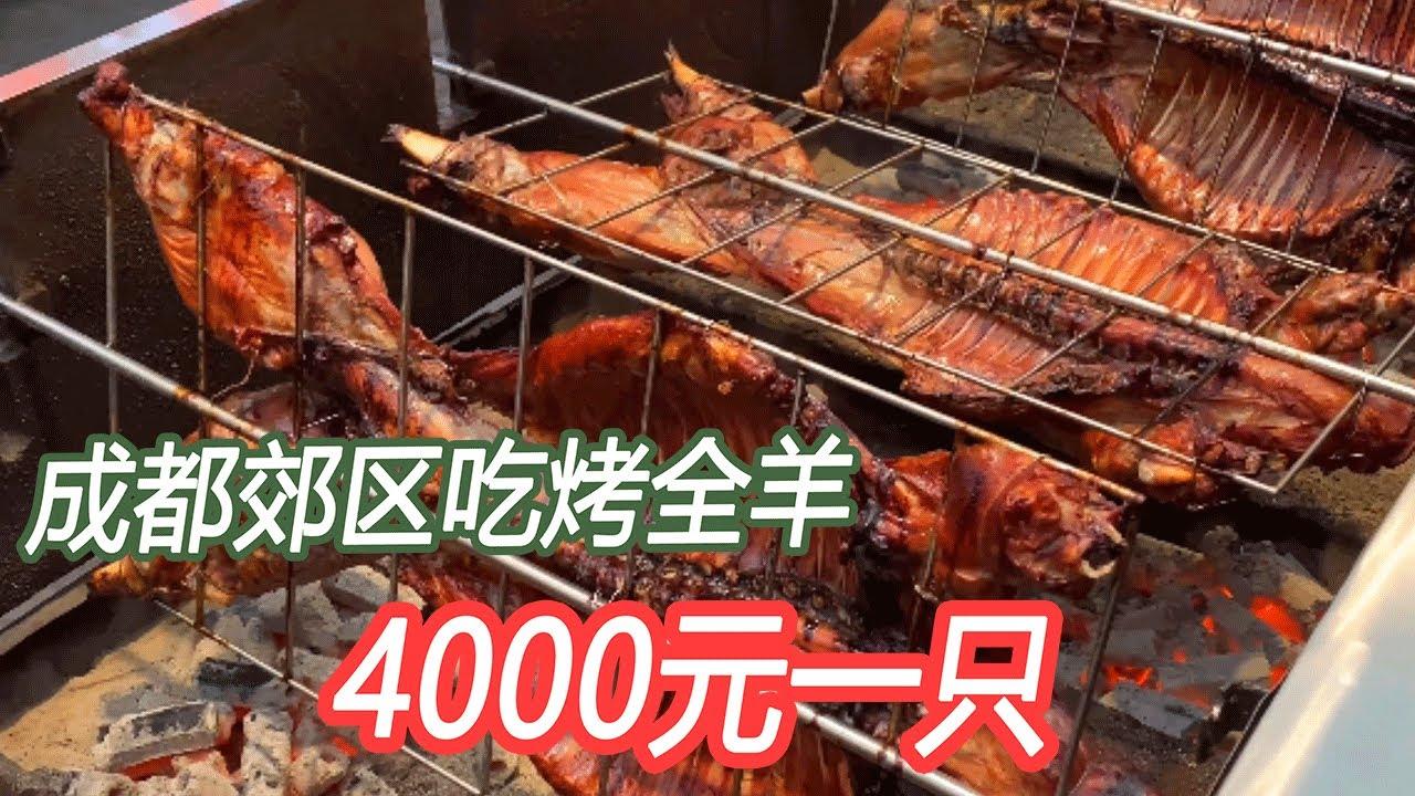 成都郊区吃4000元一只烤全羊,和美女连喝几杯,川妹子真厉害!【唐哥美食】