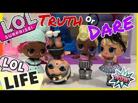 LOL LIFE! LOL Dolls Stop Motion Miniseries! Play Truth or Dare Game • Lol Girls Night Out