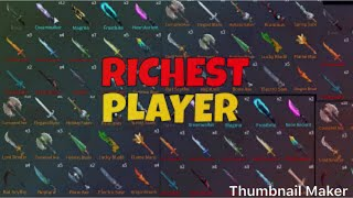 Top 7 richest players on ROBLOX assassin!!