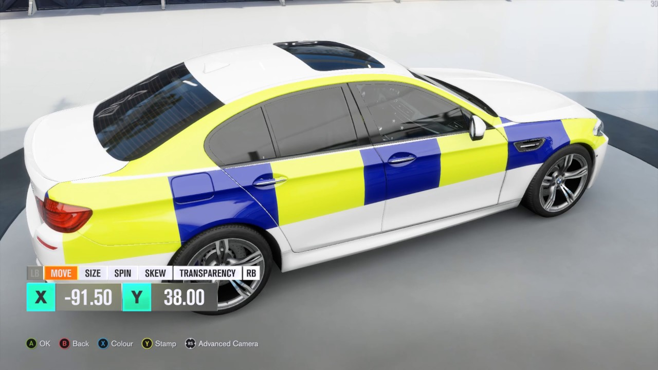 forza motorsport - how to make a british police livery [voice
