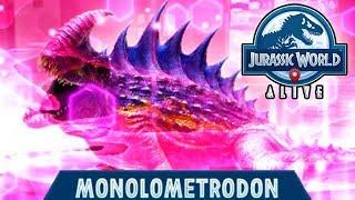 MONOLOMETRODON NEW LEGENDARY HYBRID UNLOCKED!!! (JURASSIC WORLD ALIVE)