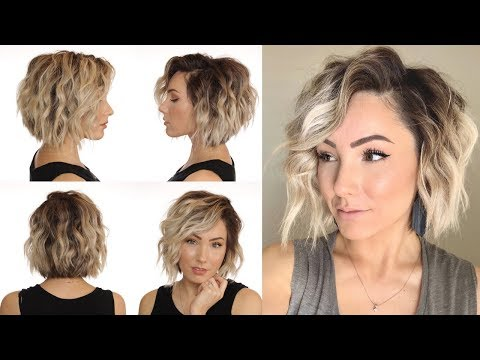 HOW TO WAND CURL WITHOUT A CURLING WAND || short hair