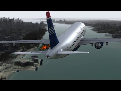 Hudson Crash ■ US Airways Flight 1549 ■ Reconstruction from inside the plane