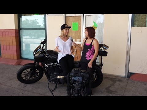 with model, actress, writer and motorcycle rider Leticia Cline
