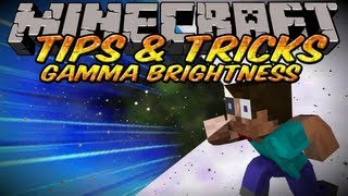 Minecraft Tips And Tricks - How to increase brightness in Minecraft using Gamma!