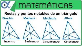 Rectas y puntos notables de un triángulo | Geometría - Vitual
