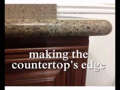 Countertop Nosing Options : Full bullnose edge on Granite Countertops - YouTube