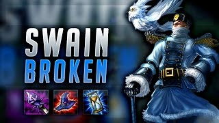 HOP ON THE SWAIN TRAIN! SWAIN SEASON 7 BROKEN TOP! - League of Legends Gameplay