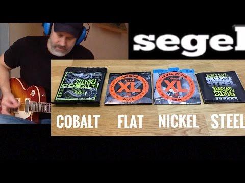 Electric Guitar Strings Comparison - Cobalt Nickel Steel etc