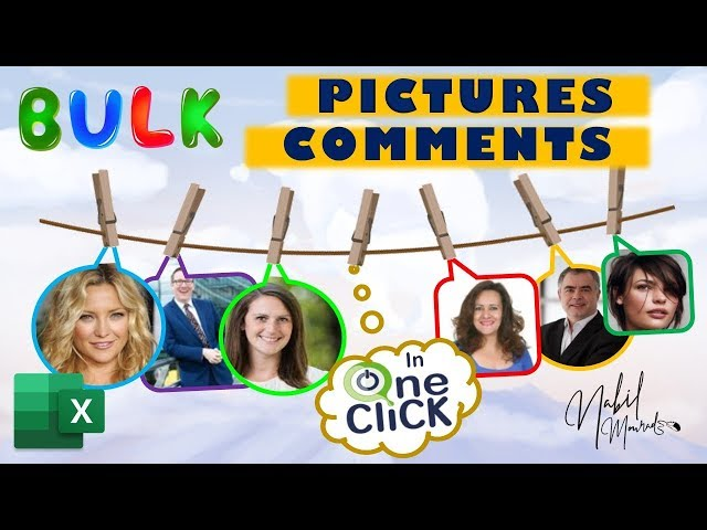 Insert Picture Comments in Bulk with One Click
