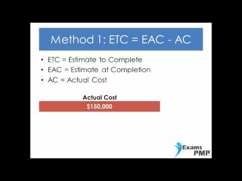 How to Calculate Estimate To Complete ETC